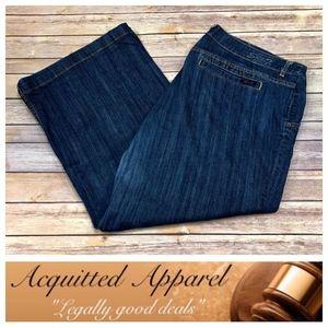 Seven7 Brand | Plus Size Full Wide Leg Jeans Short